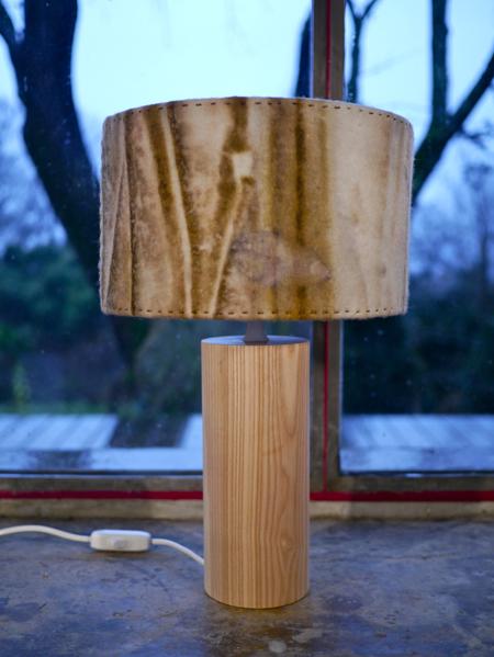 Lampe feutre/bois