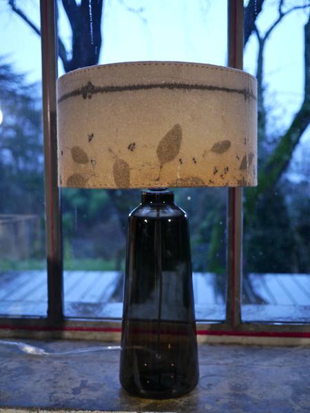 Lampe feutre/verre