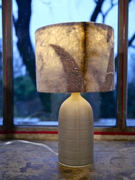 Lampe feutre/céramique