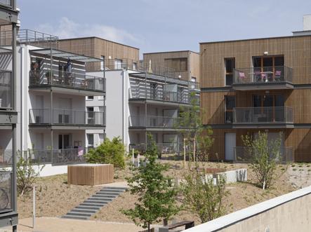 Ensemble d'immeuble d'habitation Green Cascade